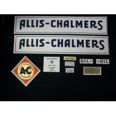 Allis Chalmers WF blue w/border Mylar Cut Decal Set