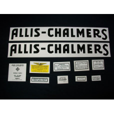 Allis Chalmers WF after 1940 Mylar Cut Decal Set