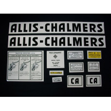 Allis Chalmers CA Mylar Cut Decal Set