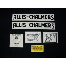 Allis Chalmers G Mylar Cut Decal Set
