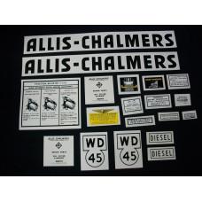 Allis Chalmers WD45 diesel Mylar Cut Decal Set