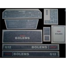 Bolens G12 Vinyl Cut Decal Set (GBO313S )