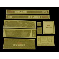 Bolens H16 Vinyl Cut Decal Set (GBO325S )