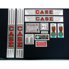 Case RC gray tractor Mylar Cut Decal Set