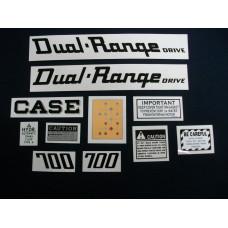 Case 700 Dual-Range Mylar Cut Decal Set