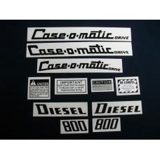 Case 800 Case-o-matic diesel Mylar Cut Decal Set