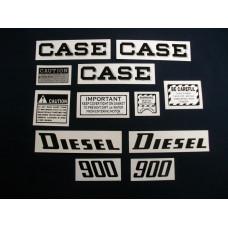 Case 900 diesel Mylar Cut Decal Set