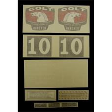 Colt Rancher (1964 & 1965) Vinyl Cut Decal Set (GC347S )