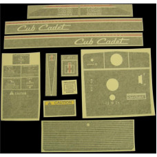 International Harvester Cub Cadet 129 Vinyl Cut Decal Set (GCC318S )