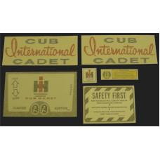 International Harvester Cub Cadet Original Vinyl Cut Decal Set (GCC300S )