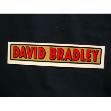 David Bradley Engine David Bradley 9 inch (red/gold) Mylar Cut Decals (DB102)