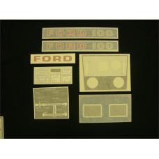 Ford 100 blue manual Vinyl Cut Decal Set (GF314S )
