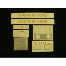 Ford 100 white hydro Vinyl Cut Decal Set (GF301S )