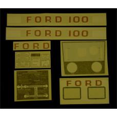 Ford 100 white manual Vinyl Cut Decal Set (GF305S )