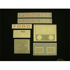 Ford 120 blue hydro Vinyl Cut Decal Set (GF312S )