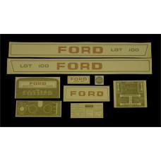 Ford LGT 100 manual + P.T.O. Vinyl Cut Decal Set (GF322S )