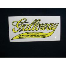 Galloway Engine Galloway (script) Mylar Cut Decals (G100)