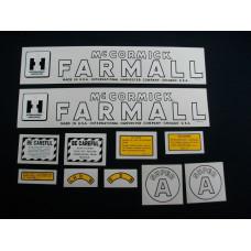 Farmall Super A Mylar Cut Decal Set (I146)