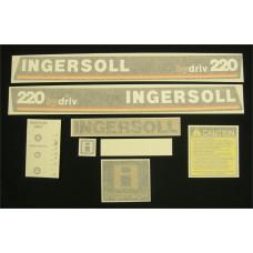 Ingersoll 220 hydriv Vinyl Cut Decal Set (GI301S )