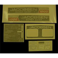 Jacobsen Super Chief 1000 Hydro Vinyl Cut Decal Set (GJ306S )