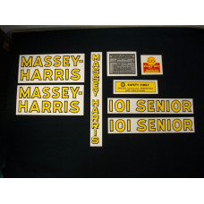 Massey Harris 101 Senior Mylar Cut Decal Set