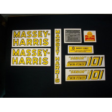 Massey Harris 101 Senior Twin Power Mylar Cut Decal Set