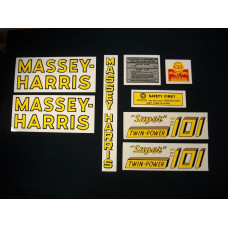 Massey Harris 101 Super Twin Power Mylar Cut Decal Set