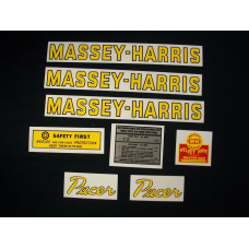 Massey Harris Pacer Tractor Mylar Cut Decal Set
