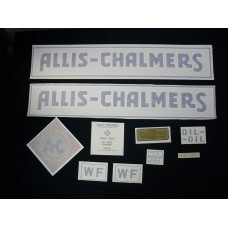 Allis Chalmers WF blue w/border Vinyl Cut Decal Set
