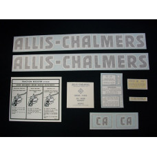 Allis Chalmers CA Vinyl Cut Decal Set