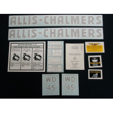Allis Chalmers WD45 black Vinyl Cut Decal Set