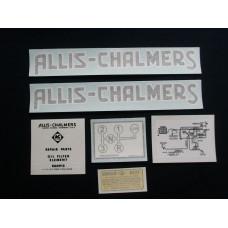Allis Chalmers G Vinyl Cut Decal Set