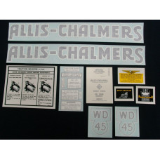 Allis Chalmers WD45 blue Vinyl Cut Decal Set