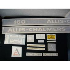 Allis Chalmers 160 diesel Vinyl Cut Decal Set
