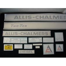 Allis Chalmers Two-Ten diesel Vinyl Cut Decal Set
