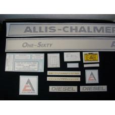 Allis Chalmers One-Sixty Vinyl Cut Decal Set
