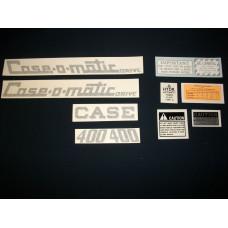 Case 400 Case-o-matic Vinyl Cut Decal Set