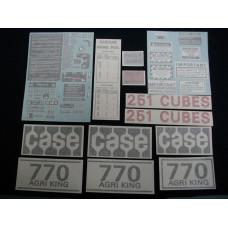 Case 770 Agri King gas 1971 - 1973 Vinyl Cut Decal Set