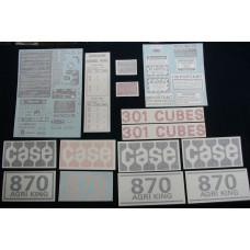 Case 870 Agri King gas 1970 - early 1974 Vinyl Cut Decal Set