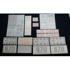 Case 870 Agri King diesel 1970 - early 1974 Vinyl Cut Decal Set