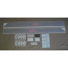 Case 470 Case Vinyl Cut Decal Set