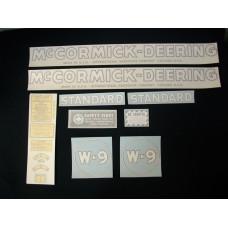 Farmall W-9 Vinyl Cut Decal Set (VI175)