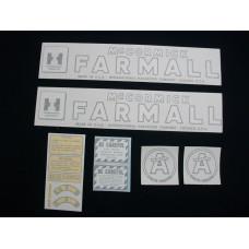 Farmall Super A Cultivision Vinyl Cut Decal Set (VI184)