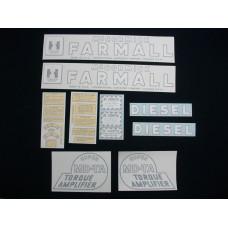 Farmall Super MD-TA Mylar Cut Decal Set (I186)
