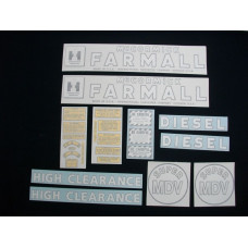 Farmall Super MDV Vinyl Cut Decal Set (VI298)