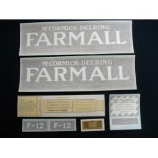 Farmall F-12 Vinyl Cut Decal Set (VI313)