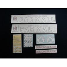 Farmall Super A Demonstrator Vinyl Cut Decal Set (VI411)