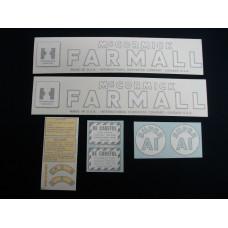 Farmall Super A1 Farmall Vinyl Cut Decal Set (VI458)