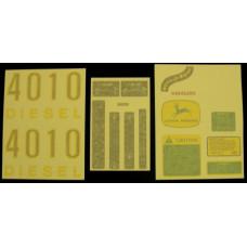 John Deere 4010 gas/diesel Vinyl Cut Decal Set (VJD310S)
