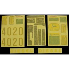John Deere 4020 gas/diesel Vinyl Cut Decal Set (VJD312S)